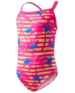 MAILLOT FILLE FLAMINGO STRIPES MAXFIT